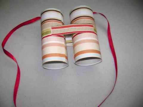 How to make toilet paper rolls binoculars - EP - simplekidscrafts - simplekidscrafts