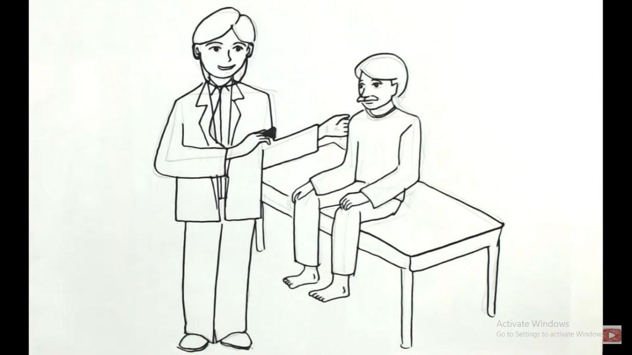 Cara Menggambar Cita Cita Menjadi Dokter Draw Your Dreams Of