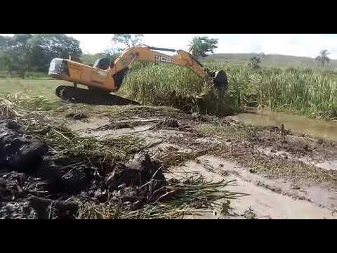 Vídeo de obras no Rio Utinga