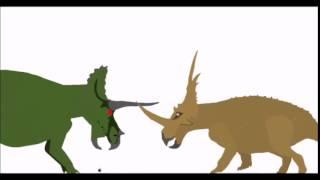triceratops by dinomorph3000 styracosaurus by theropoda entertainment.