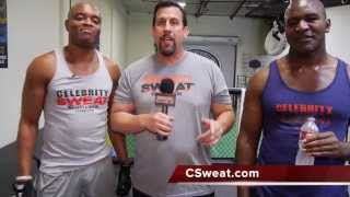 Celebrity Sweat feat, Anderson Silva, Evander Holyfield, Big John McCarthy, Billy Blanks