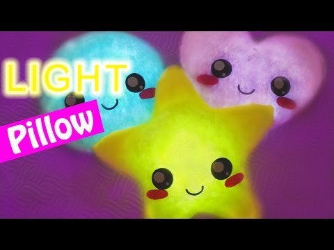 DIY crafts: LIGHT PILLOW very easy! - Innova Crafts