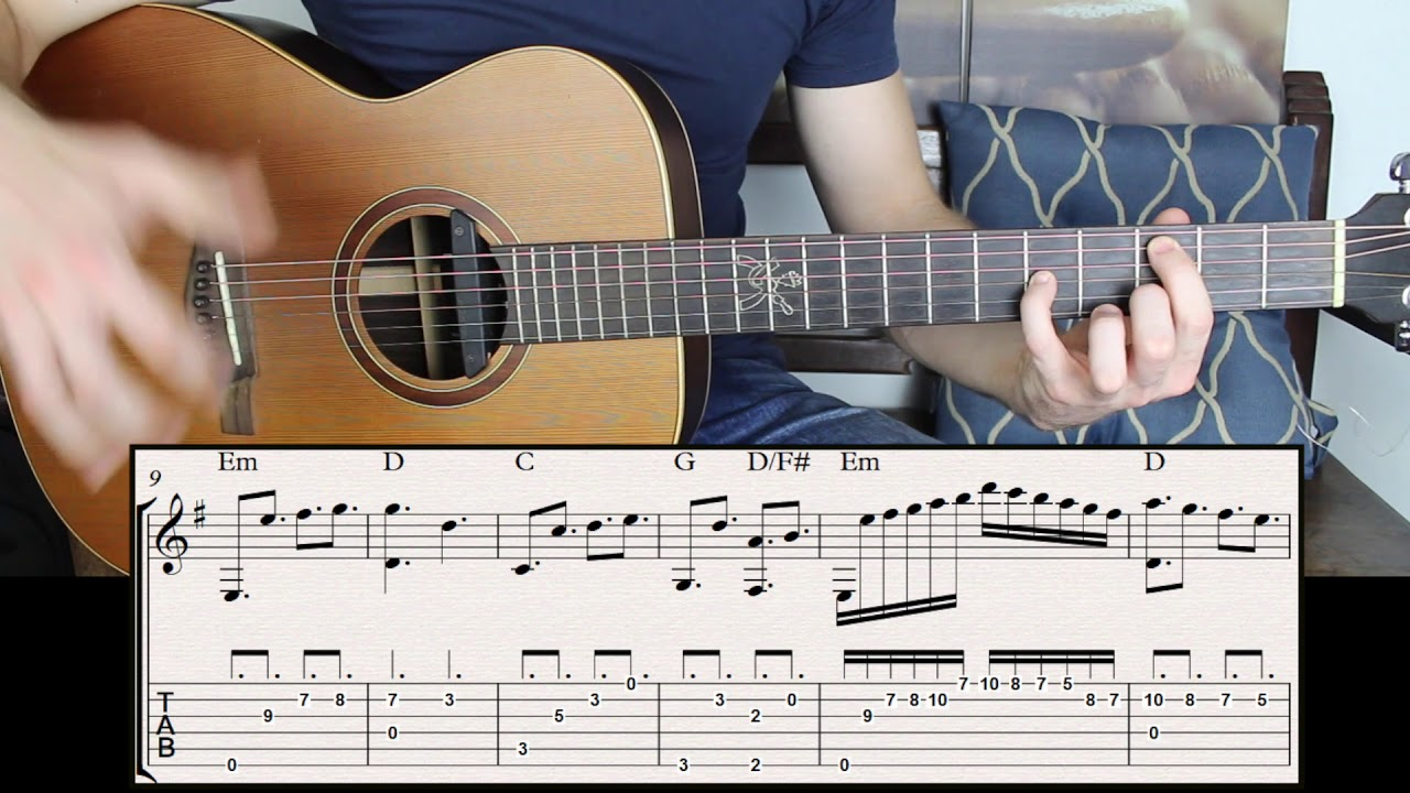 How To Build Emotional Chords In E Minor Key On Guitar Youtube