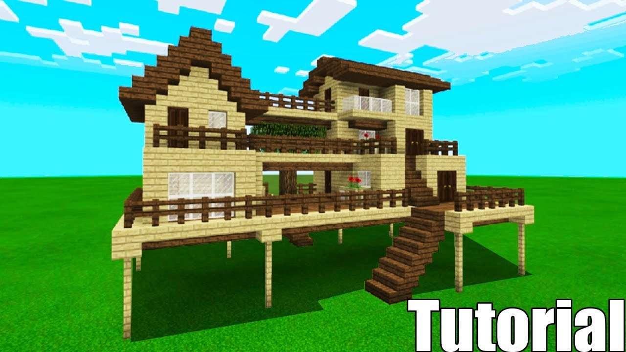 Minecraft Tutorial How To Make A Wooden Survival House 4