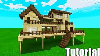 """Minecraft Tutorial: How To Make A Wooden Survival House #4 """"Starter House Tutorial"""""""