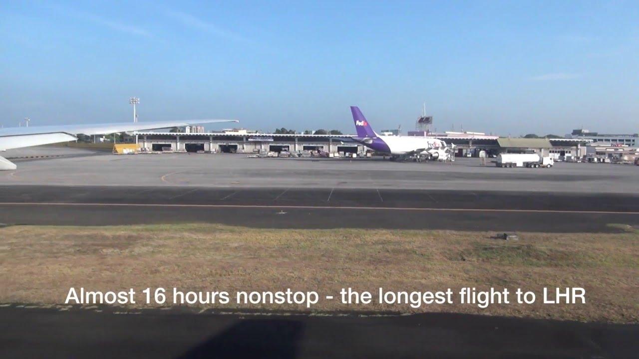 Manila London Mnl Lhr Philippine Airlines Pal720 B777 Youtube