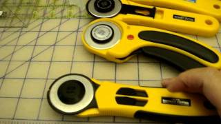 Differences between Olfa Rotary Cutters - OLD VERSION