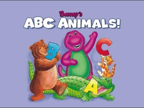 Barneys Abc Animals Read Along Cassette Youtube