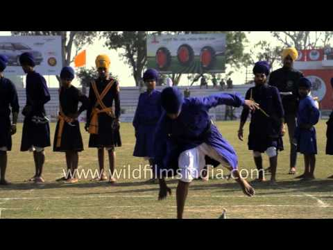 Ancient martial arts - Gatka by Sikhs in Punjab