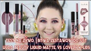 Test na żywo | HUDA BEAUTY LIQUID MATTE vs LOVELY K-LIPS