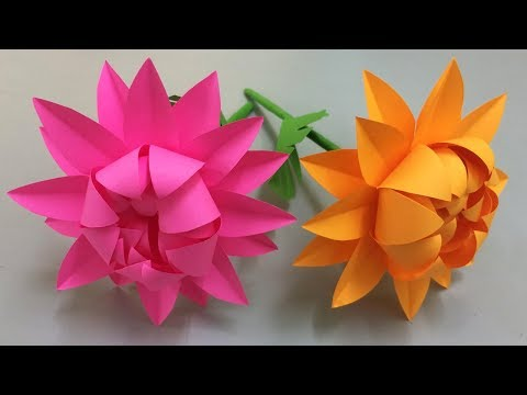 How to Make Beautiful Flower with Paper - Making Paper Flowers Step by Step - DIY Paper Flowers #7