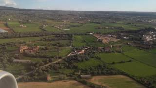 Aproximación al aeropuerto son San Juan Palma de Mallorca con mucho viento