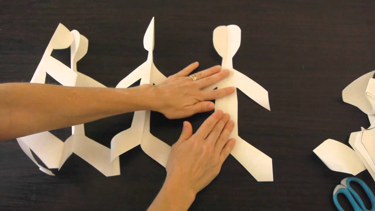 How To Make Paper Dolls Holding Hands Youtube