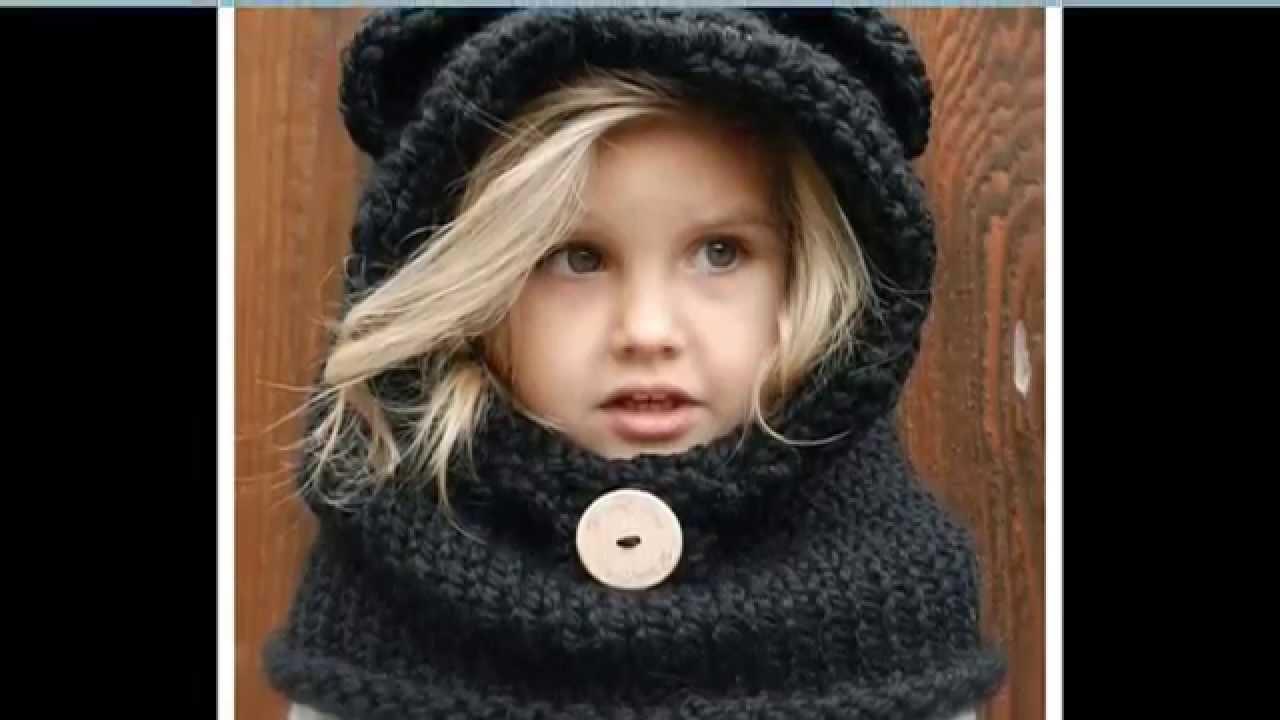 a91d65d4a33 Вязаные шапочки для девочек Образцы шапок - YouTube