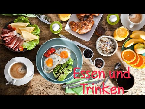 Уроки немецкого: essen und trinken. Еда и напитки на немецком. - Видео онлайн