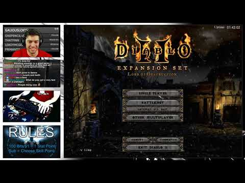 Diablo 2 - Let's Play Stupid Character Builds Chat Creates - Necromancer