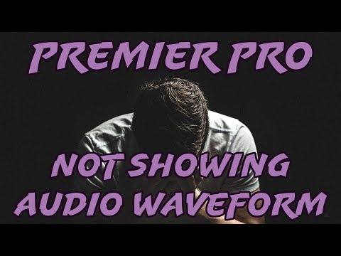 FIX Missing Audio WAVEFORM in Premier Pro