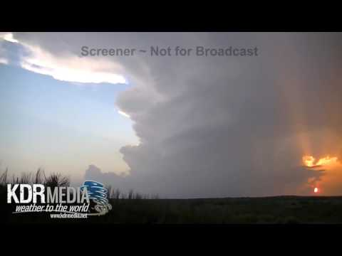 05-22-16 Tom Stolze Turkey, TX Supercell Sunset Time-lapse