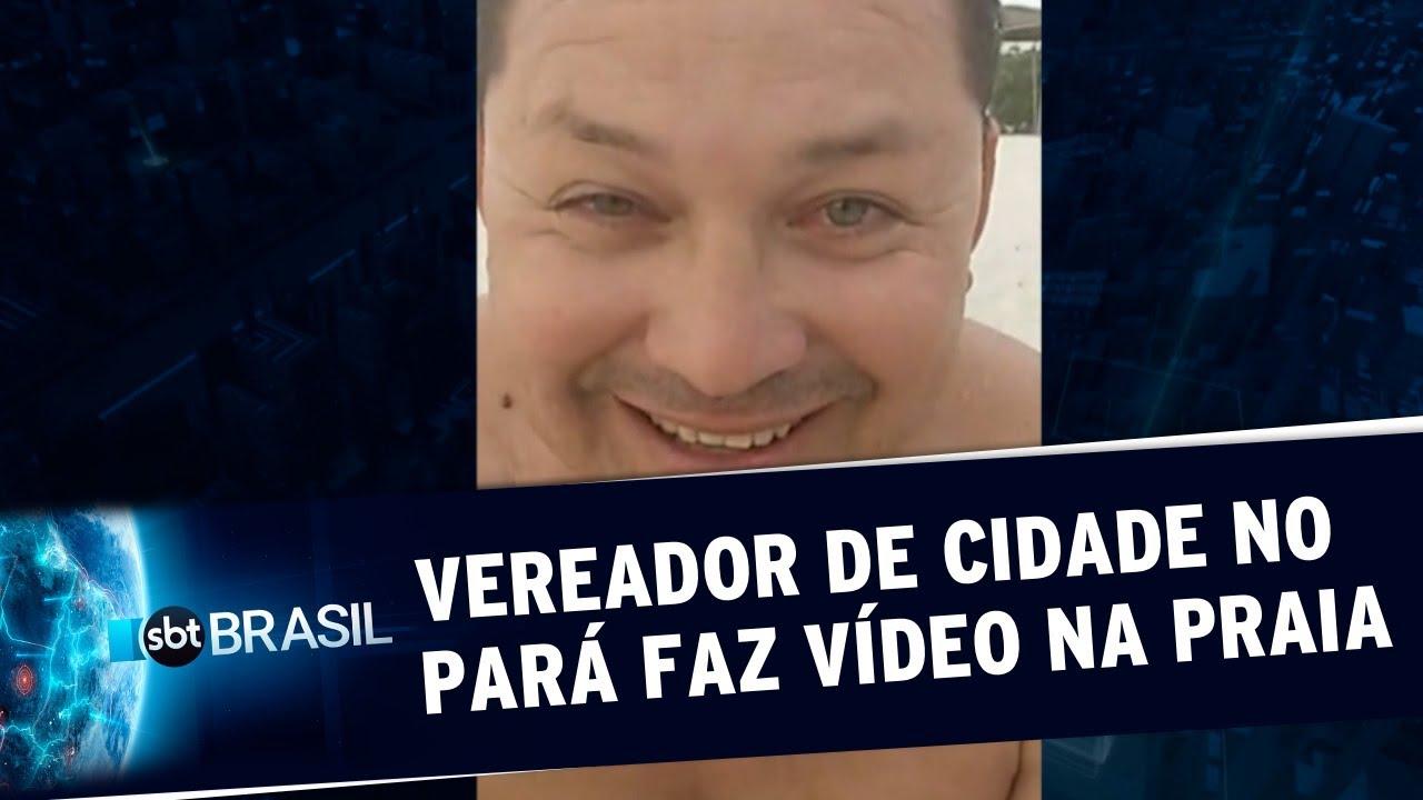 Vereador do Pará faz vídeo na praia e revolta a população da cidade | SBT Brasil (21/11/19)