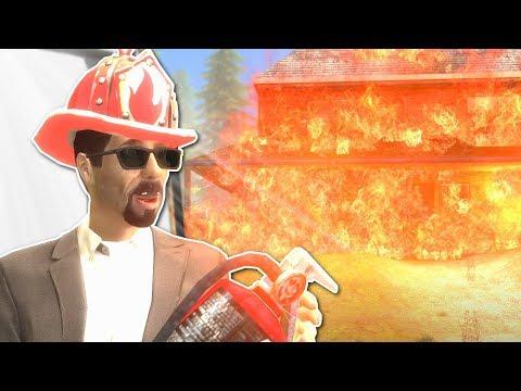 BECOMING A FIREFIGHTER! - Garry's Mod Gameplay - Gmod vFire Mod Survival