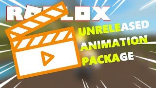 Testing Unreleased Animation Package | Roblox