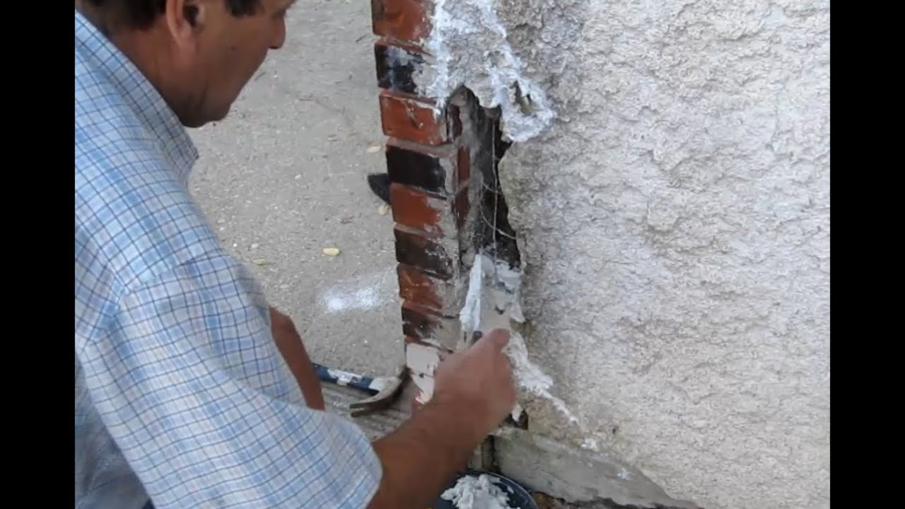 How to patch stucco cracks -  Cracked Stucco How To Repair Yourself And Save
