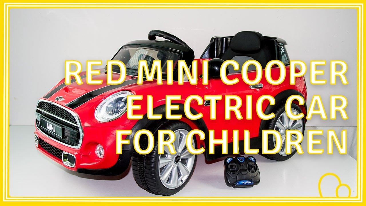 red mini cooper electric car for children