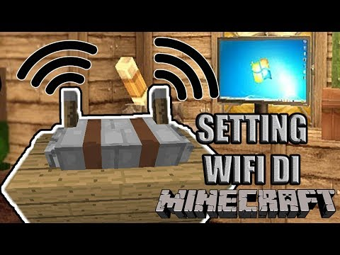 CARA MEMBUAT WIFI DI MINECRAFT?! + GAMING SETUP!