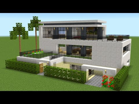 Minecraft How To Build A Modern House 19