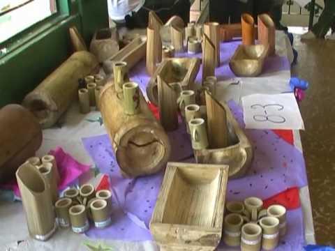 Artesanias de sevilla youtube for Bambu seco para decoracion