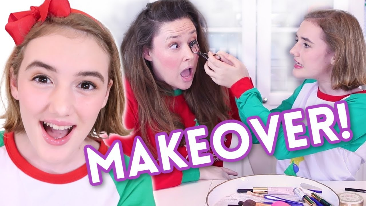 My Makeup Routine! Bailey gets a Makeover!
