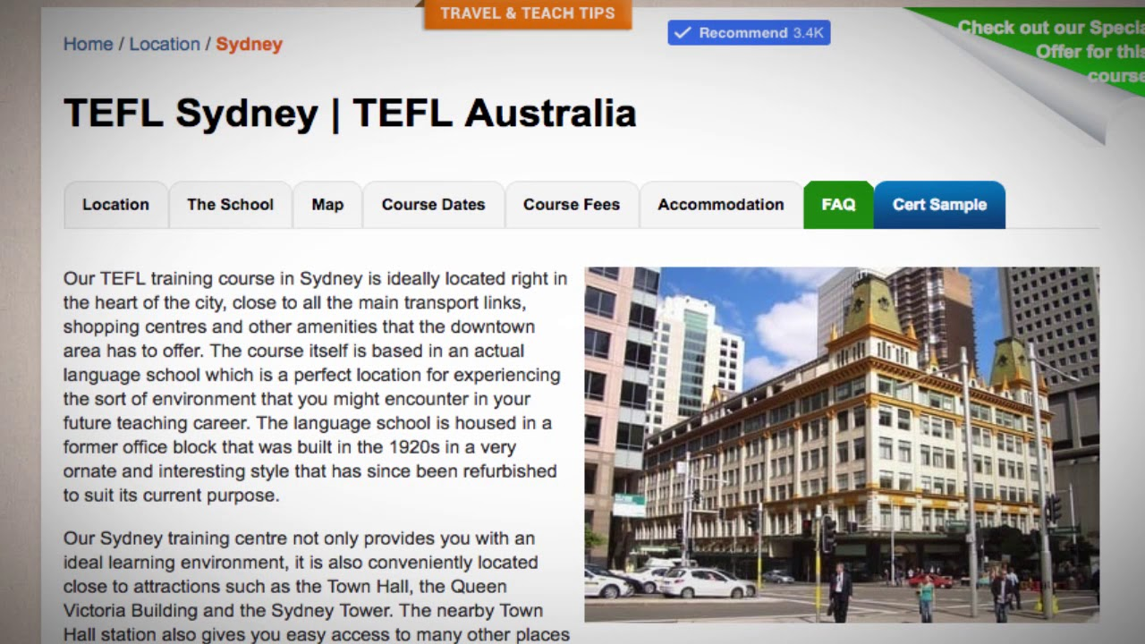 fe9ad37090 Welcome to Our TEFL   TESOL School in Sydney