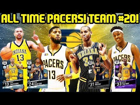ALL TIME PACERS TEAM 20! PAUL GEORGE AND REGGIE MILLER LEAD! NBA 2K17 MYTEAM ONLINE GAMEPLAY