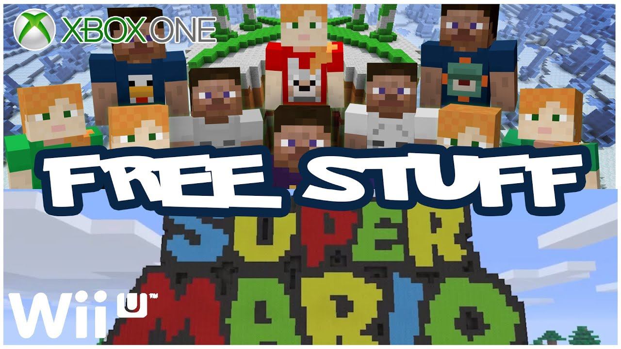 Minecraft FREE Xbox PS Skin Pack And Super Mario For WiiU - Skins para minecraft wii u edition