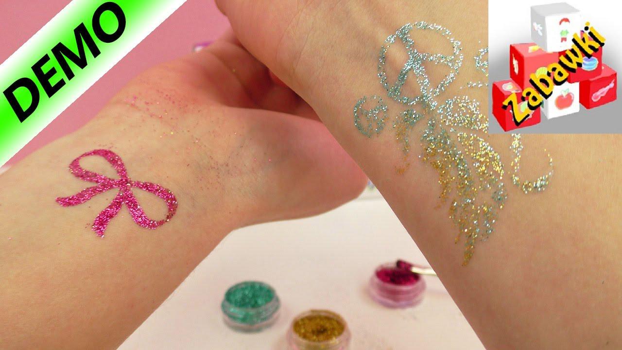 Zestaw Do Robienia Brokatowych Tatuaży Revell Test Na żywo