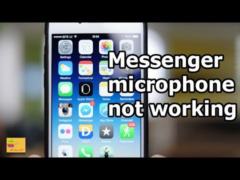 Microphone not working for Facebook messenger - YouTube