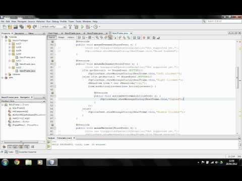 Java Tutorial - Using JPopupMenu to display pop ups - Session 32