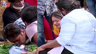 Meghana raj, Dhruva sarja and Arjun Sarja pay's Final respect to Chiru sarja