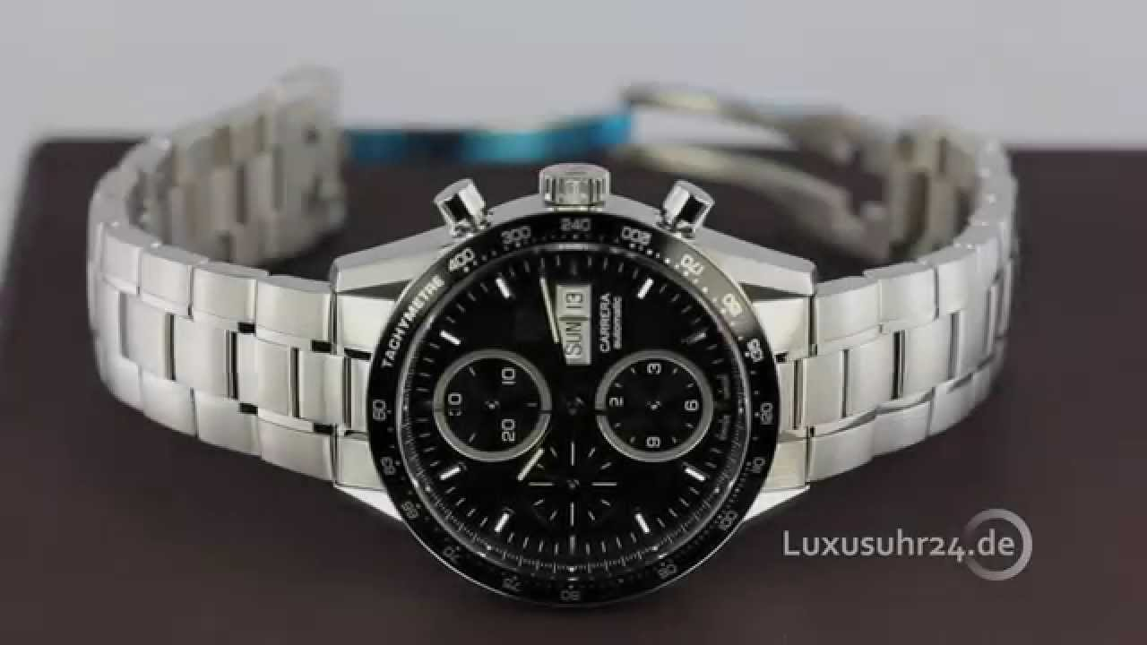 Tag heuer carrera calibre 16 chronograph day date 41mm cv201ag ba0725 luxusuhr24 youtube for Tag heuer carrera calibre 16