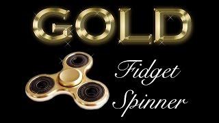 gold fidget spinner