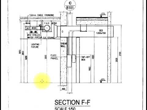 hvac training - how to read hvac drawing with sectional details