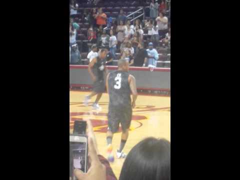 Celebrity Basketball Game. Trey Songz,Chris Brown