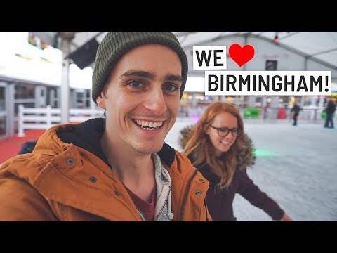 WINTER IN BIRMINGHAM! Ice Skating Fail   DELICIOUS Steak Dinner! (Birmingham, England)