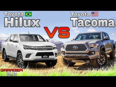 Toyota Hilux Brasileira VS Toyota Tacoma Americana - (Garagem 2.0)