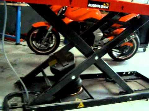 Test elettrovalvole per ponte sollevatore moto doovi for Pedana alzamoto