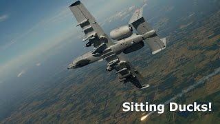 DCS World A10C - Sitting Ducks! (mavericks/cluster bombs) 60fps HD