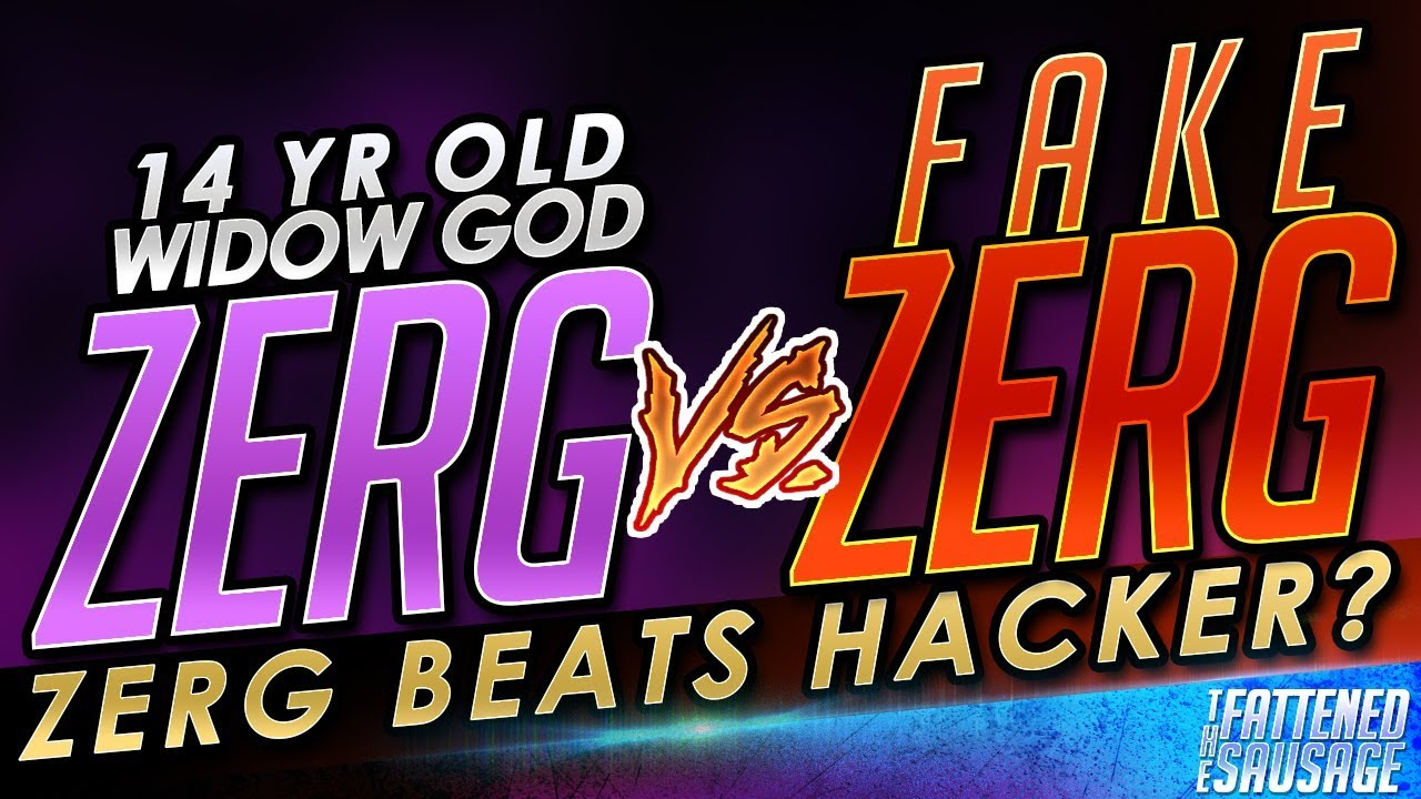 Widow God ZERG vs FAKE ZERG! Beats Hacker Impostor?! ft  KolorBlind by  TheFattenedSausage