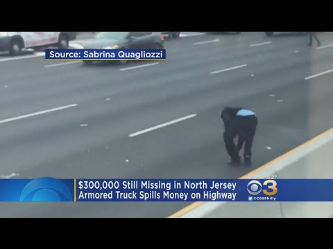 Nearly $300,000 Remains Missing After Armored Car Spilled Cash Onto New Jersey Highway