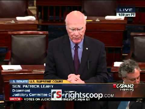 Patrick Leahy tries to intimidate Supreme Court Chief Justice Roberts into upholding Obamacare