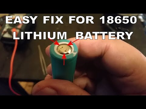 EASY FIX FOR A DEAD 'NOT CHARGING' LITHIUM 18650 BATTERY FROM A CORDLESS TOOL BATTERY PACK - PART 2